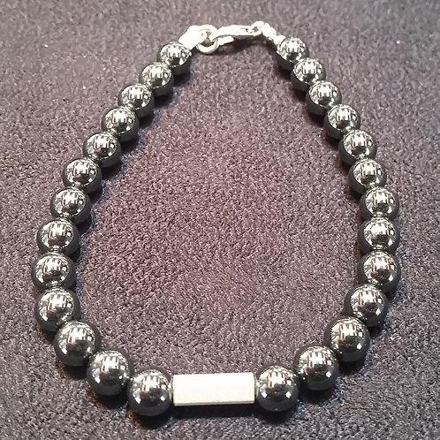 Hematite Bracelet with silver