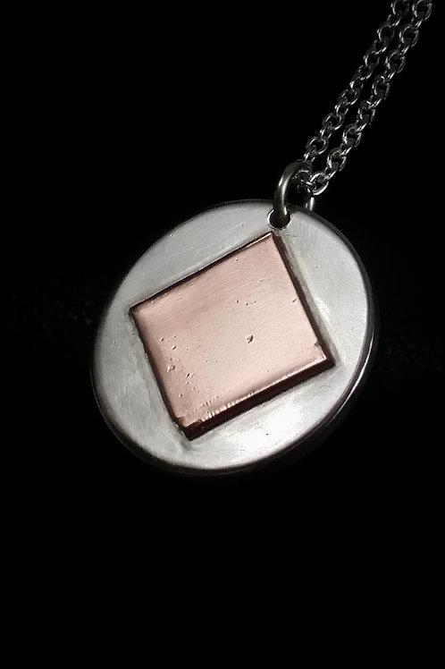 Silver and Copper Fusion Pendant