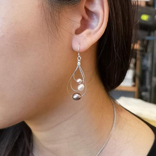 Galaxy earrings on silver