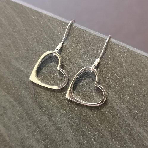 Original heart earrings in silver