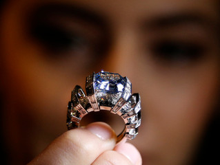 "The ""Sky Blue Diamond"" ring by Cartier to be sold by Sotheby's"
