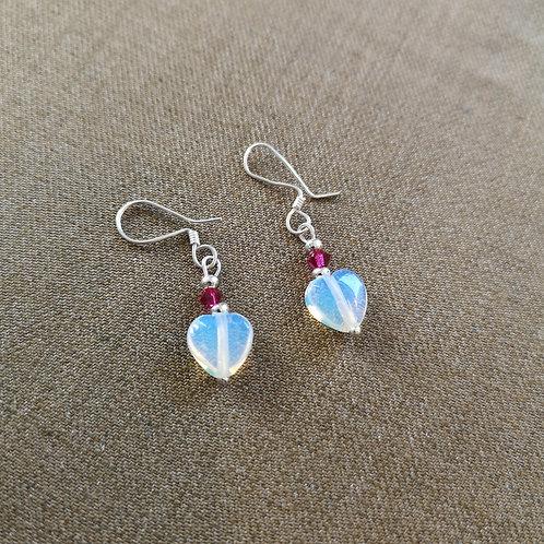 Glowing Heart earrings in Sterling Silver