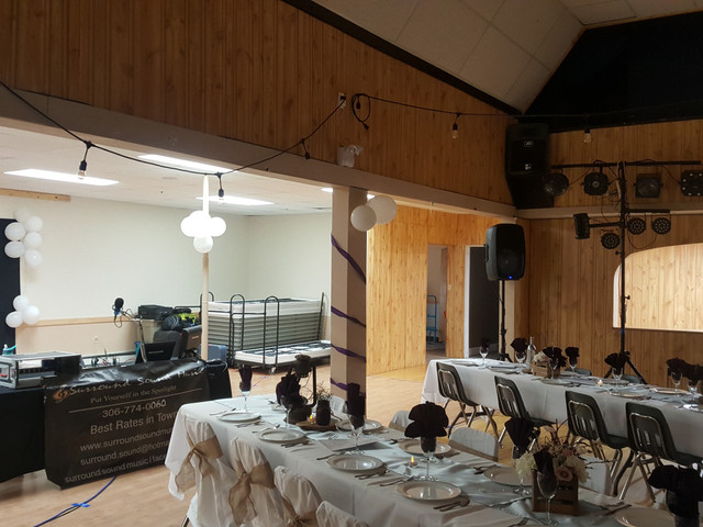 Wedding Reception in Eastend