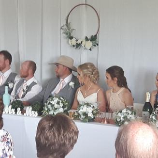 Head table Wedding Party