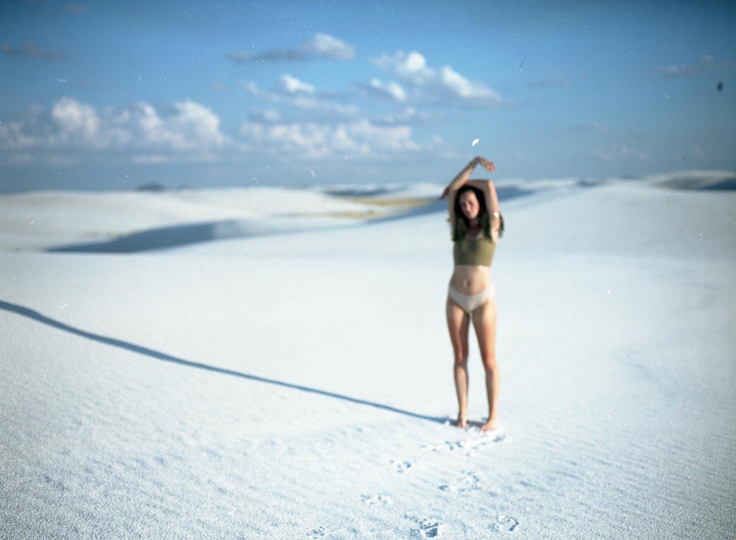 Self Portrait in White Sands no. 1
