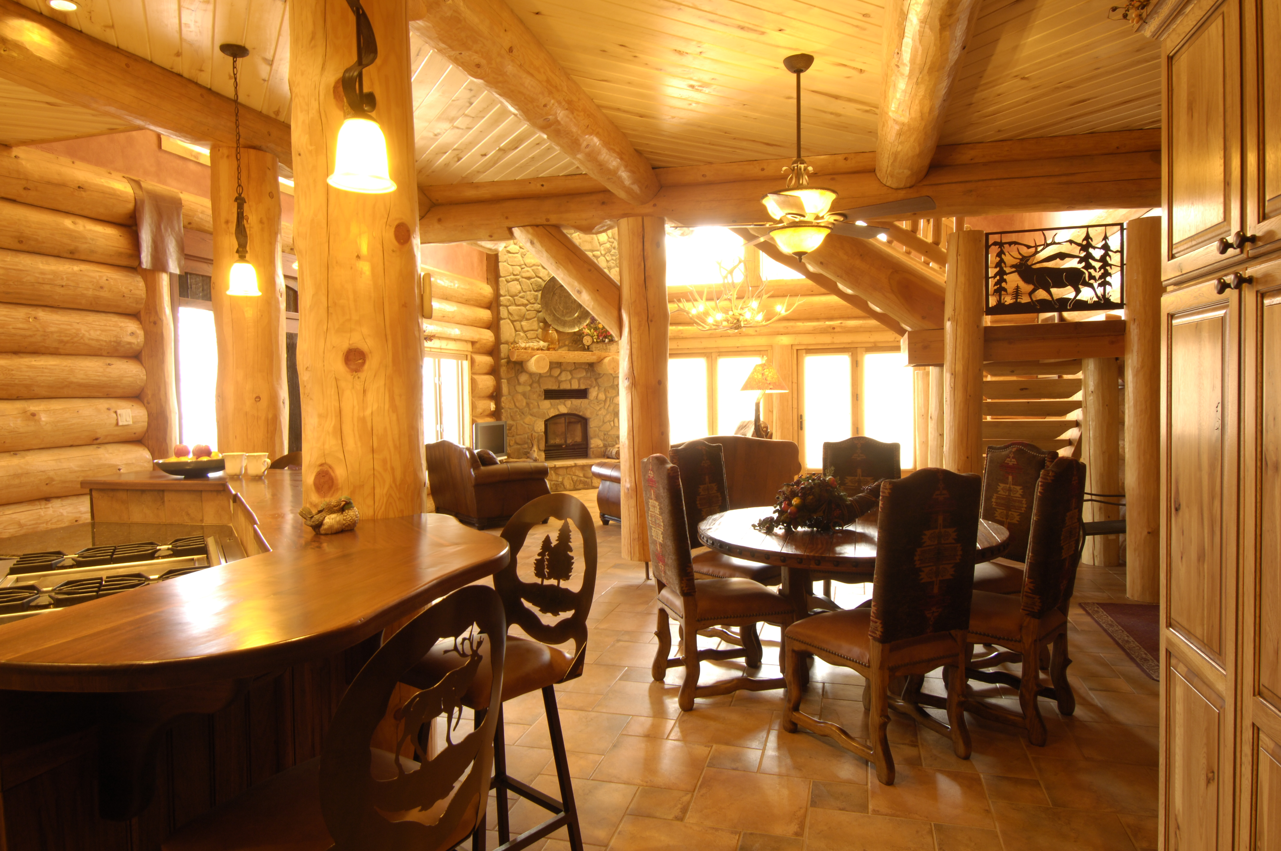 Pagosa Springs Handcrafted Log Home