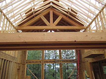 Custom framed home by Pagosa Springs home builder and general contractor, Silver Creek Custom Homes LLC