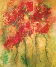 Abstract flowers by Sherri Weeks