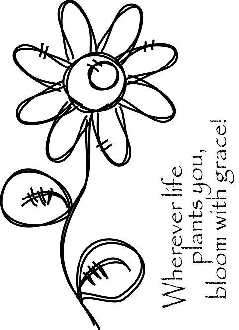 Funky Flowers - Grace