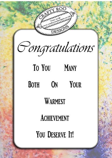BYO - Congratulations Greeting