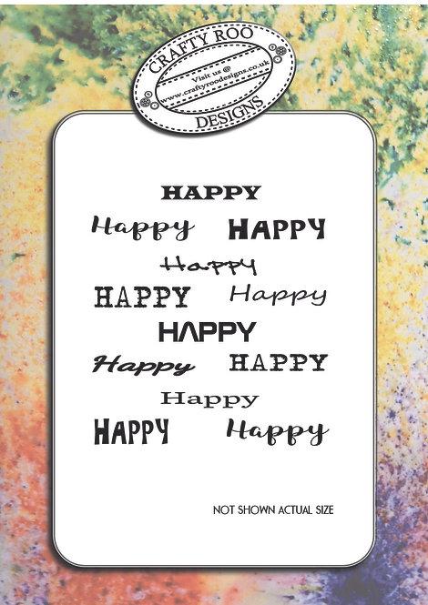 Doodle Word Background - Happy