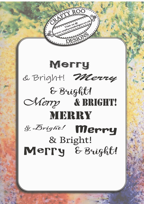 Doodle Word Background -Merry & Bright
