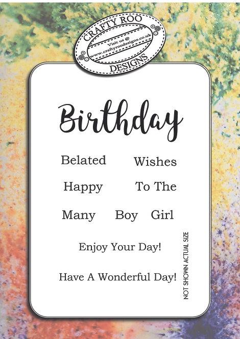 Birthday - Girl Boy