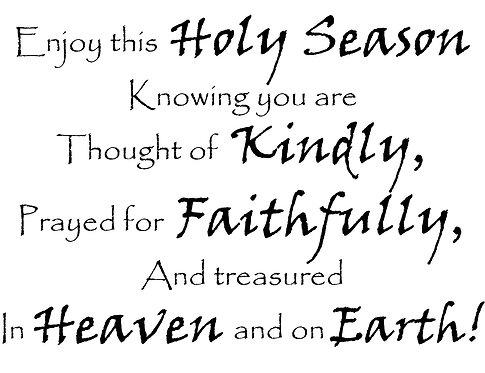 Holy Season