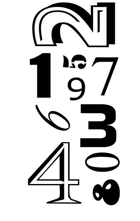 TEXTURES - Numbers