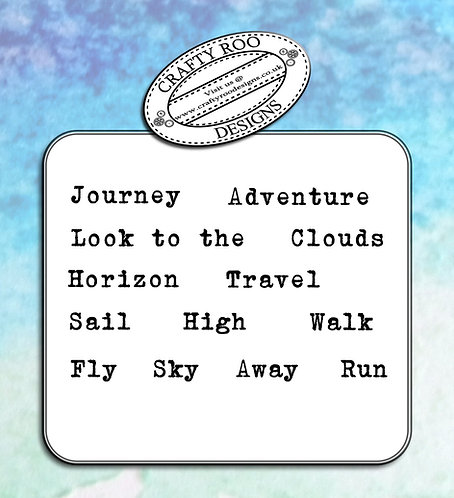 Doodle Words - Travel