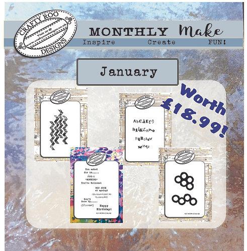 January 2021 Full Stamp Set