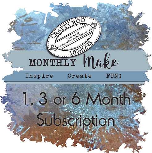 Monthly Make 1, 3 or 6 month Subscription
