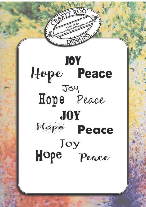 Doodle Word Background - Joy Hope Peace