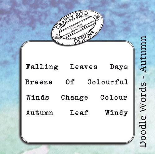 Doodle Words - Autumn