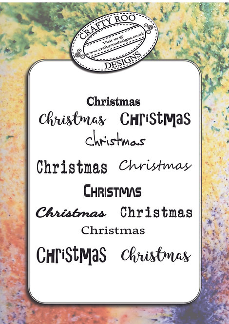Doodle Word Background - Christmas