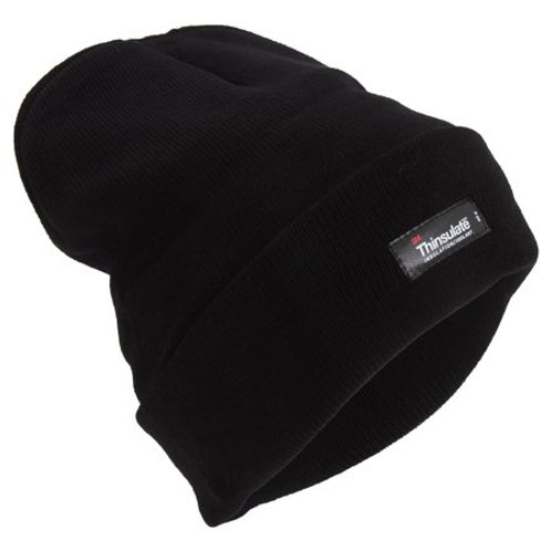 Beanie, Thinsulate Lined; Black