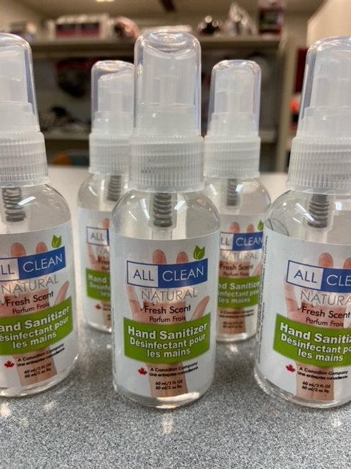 ALL CLEAN HAND SANITIZER - 2 OZ (60ML)