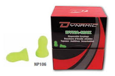 DISPOSABLE EARPLUGS DYNA-MAX -  - NP106