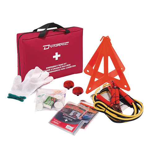 Ideal for use during a roadside emergency Contains a variety of first aid and em