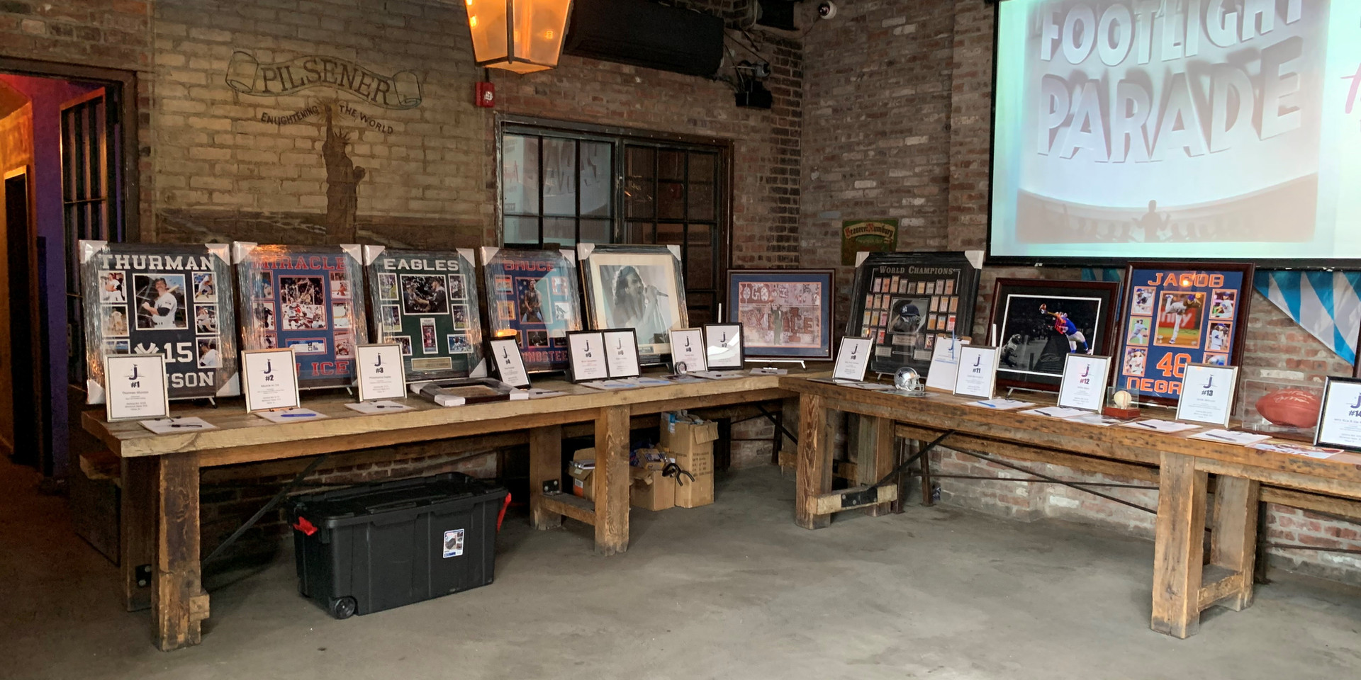 JustinTime Foundation Auction Table