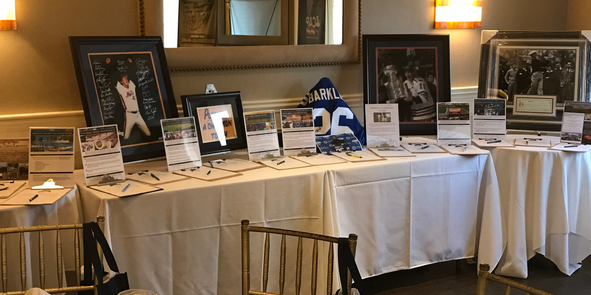 Lead the Way Foundation Auction Table