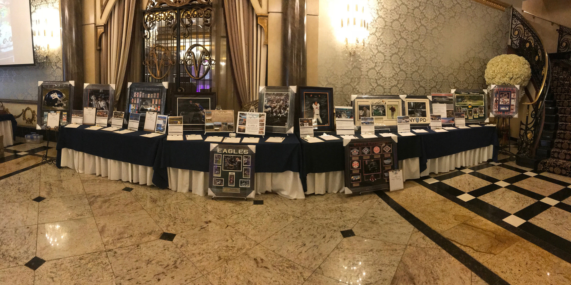 Brenner Foundation Auction Display