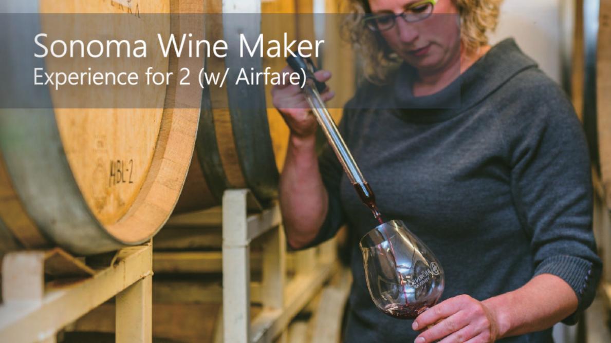 Sonoma Wine Maker Snapshot