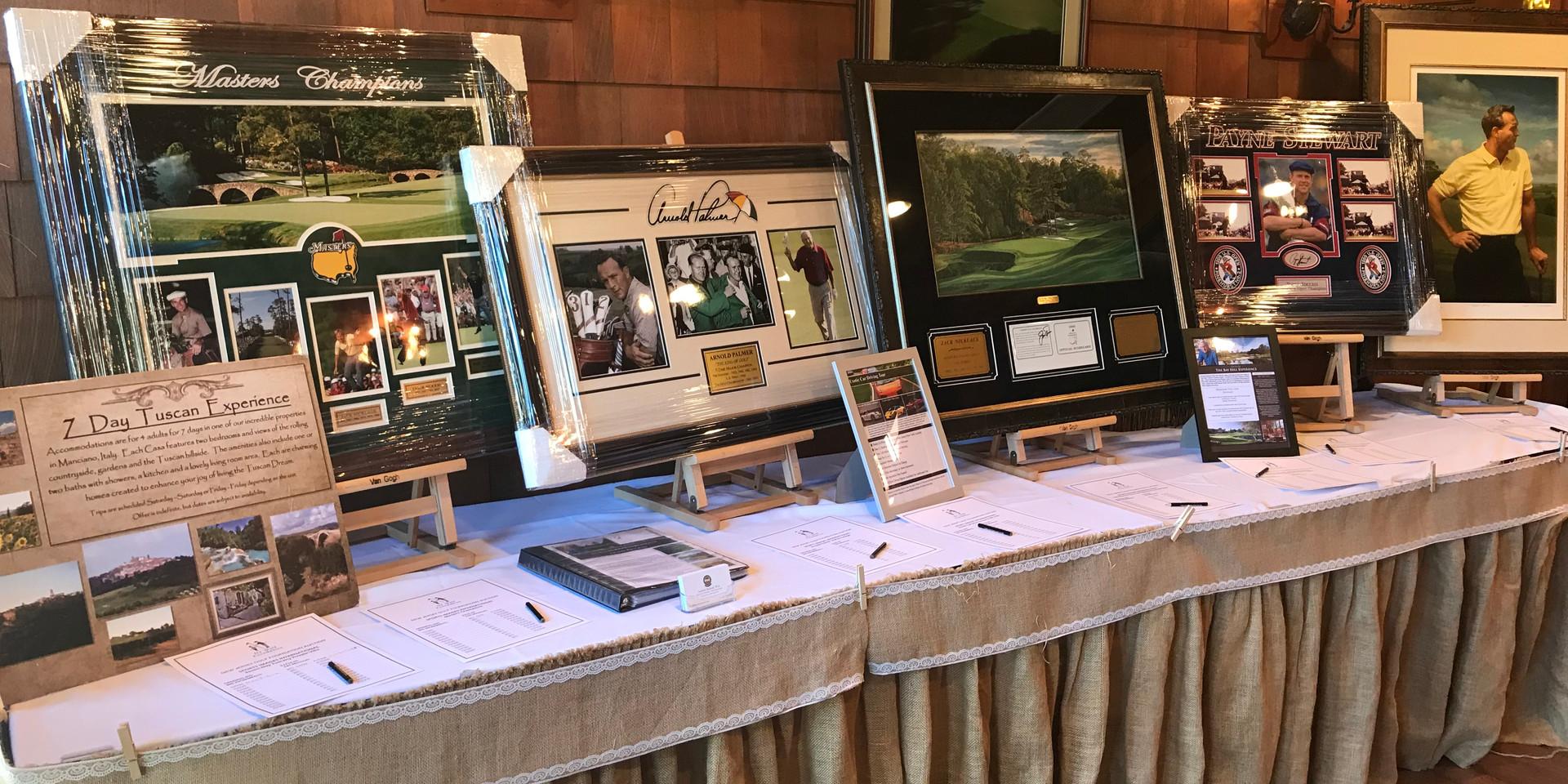 NJ PGA Cup Auction Table