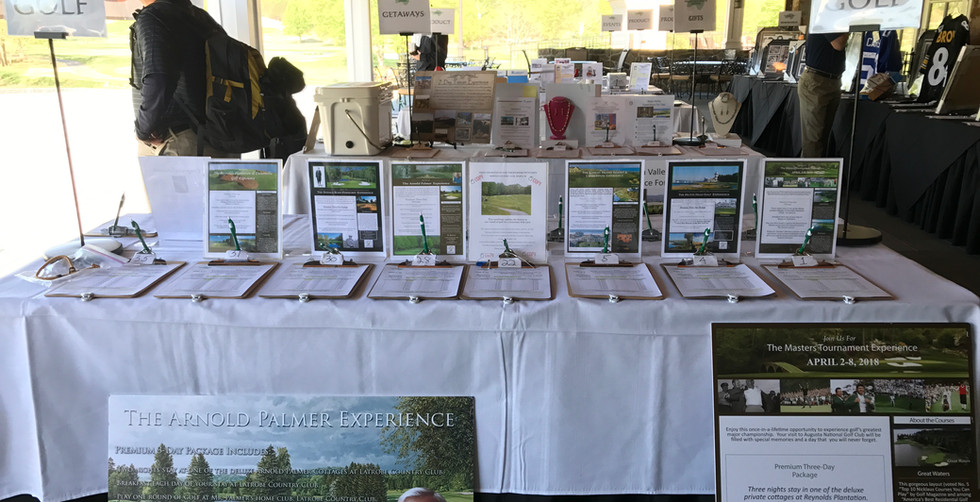 Rutgers Turfgrass Golf Classic Golf Travel Auction Table