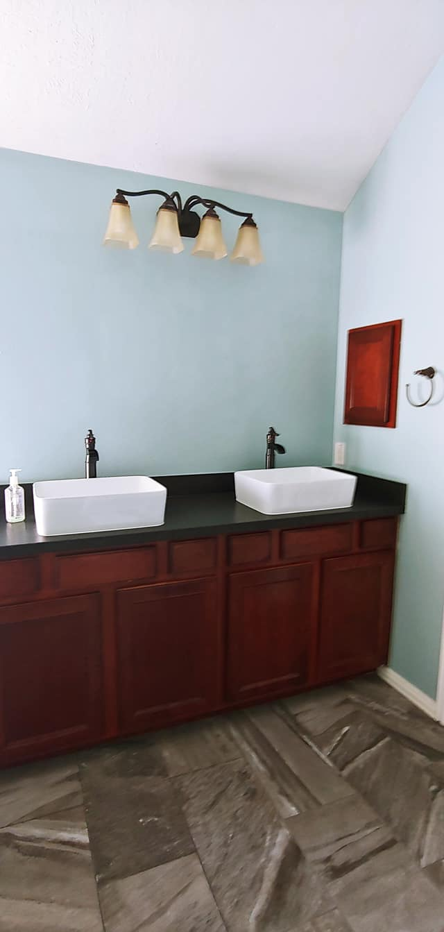 Master bathroom vanity before