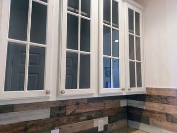 Completed doors & backsplash