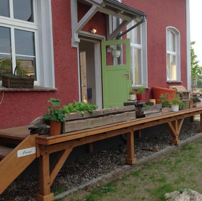 Terrasse zum Gästezimmer
