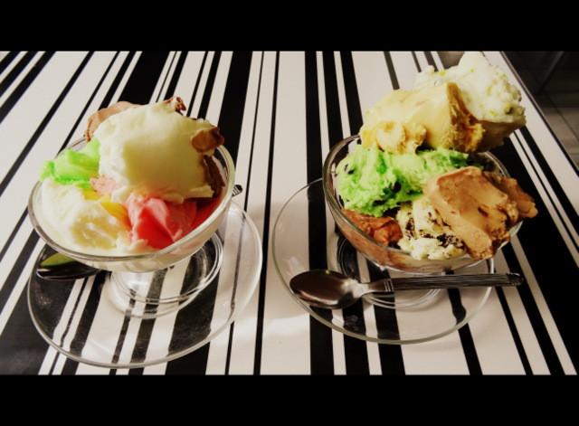 Arabic gum ice-cream