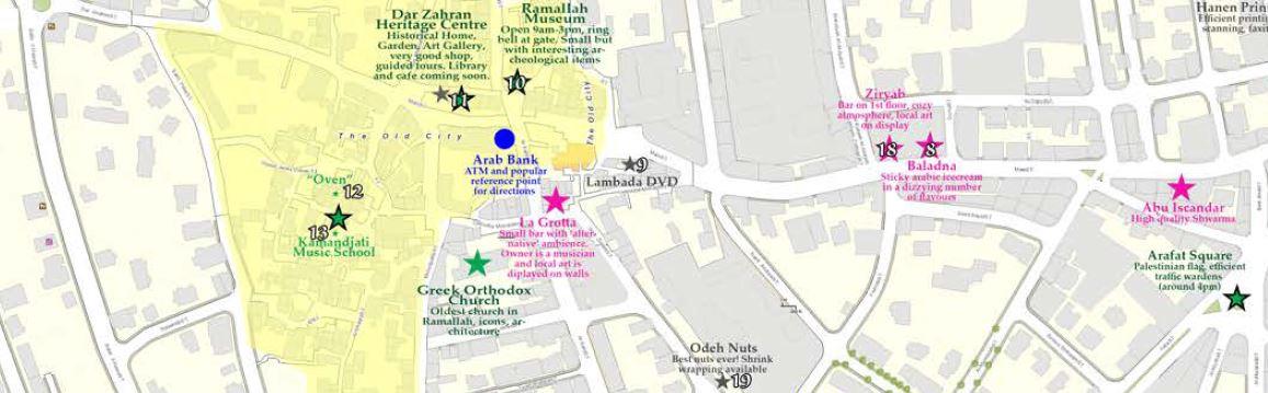 MAP OF RAMALLAH