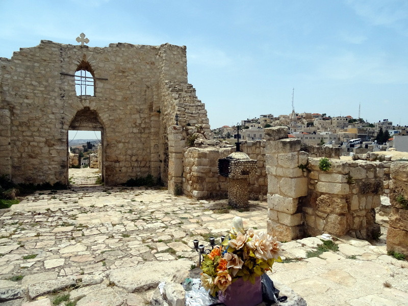 Church ruins in Taybeh