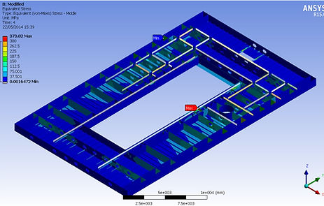 Ansys Analysis of moonpool deck - TyneTec Engineering Ltd - providers of design engineering services