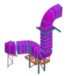 STAAD Model of ductwork design by TyneTec Engineering Ltd