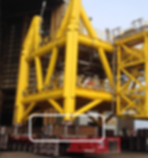 Seafastening as designed by engineering consultants, TyneTec Engineering Ltd