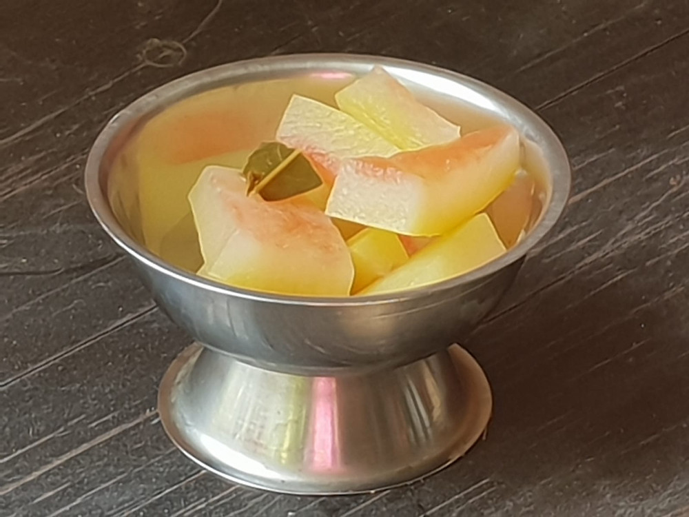 Pickled watermelon rind חמוצים