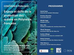 Conférence publique : les enjeux et les défis de la protection des océans en Polynésie française