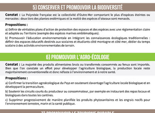 10 priorités pour un fenua plus écologique