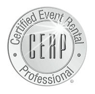 Certified event rental professional badge