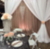 A beautiful wedding table and backdrop
