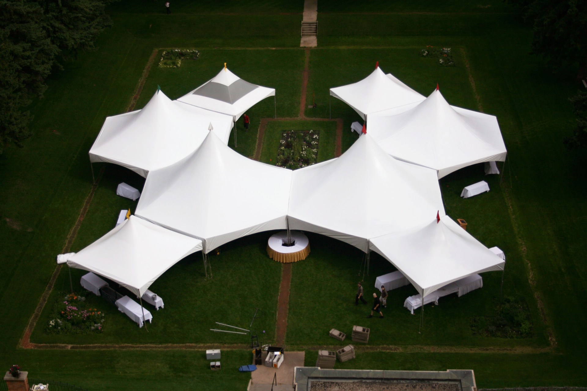 hex tents and 20x20's